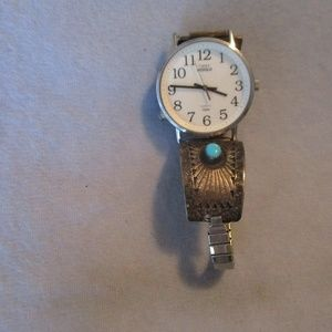 Timex Indiglo Watch with Sterling Turquoise Band